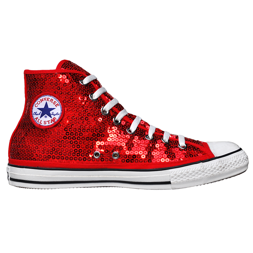 converse all star chuck taylor chucks rot pailletten. Black Bedroom Furniture Sets. Home Design Ideas