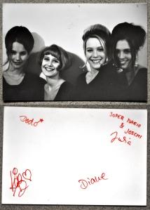 Lemonbabies - Autogrammkarte 1991 mit Autogrammen auf der Rückseite