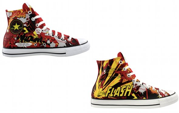 Converse All Star Chucks online günstig kaufen - Flash DC Comics - Blitzmann / Roter Blitz limited Edition / Sondermodell