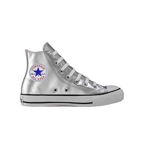 Converse Chuck Taylor All Star Chucks 1V198 Hi Silber Leder online günstig kaufen