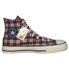 Converse Chuck Taylor All Star Chucks 101926 Blau Braun Blue Brown military Plaid Kariert HI