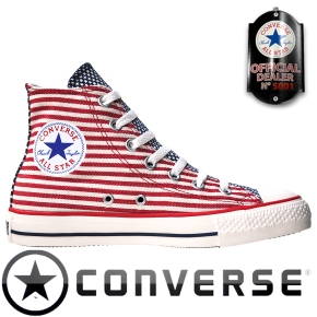 Converse Chucks Taylor All Star Chucks 122177 USA Flag Weiß Rot Blau