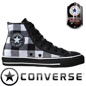 Converse Chuck Taylor All Star Chucks 517484 Schwarz Weiß Black White Plaid Kariert
