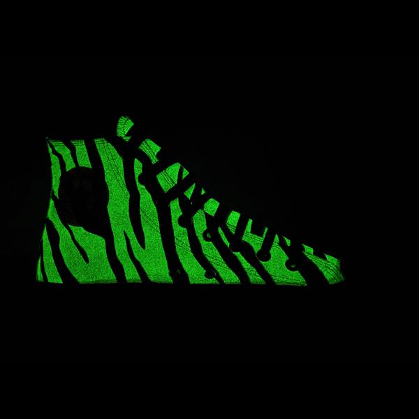 Converse All Star Chucks Glow in the Dark - Zebra - vintage