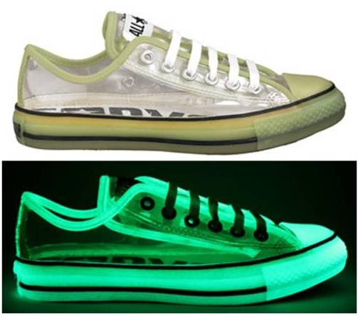 #Converse Chuck Taylor All Star #Chucks Glow in the Dark Transparent Lo OX