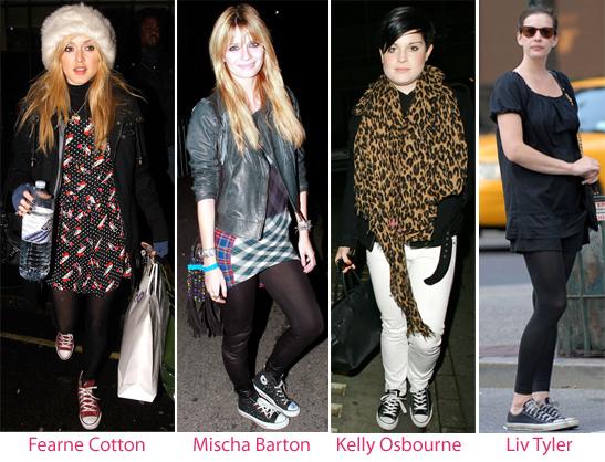 Converse und Kelly Osbourne - Liv Tyler - Mischa Barton - Fearne Cotton