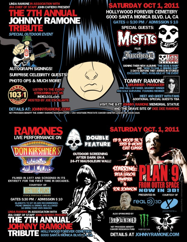 IN LOVING MEMORY OF JOHNNY RAMONE  October 8, 1948 – September 15, 2004