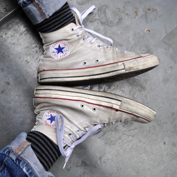Converse Chuck Taylor All Star Chucks #M7650 Optical White Weiß HI Vintage