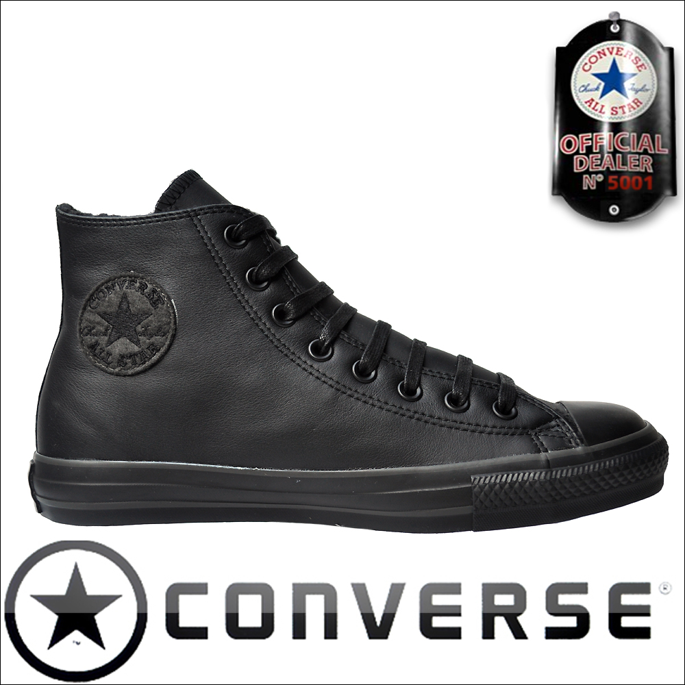 converse chucks schwarz leder. Black Bedroom Furniture Sets. Home Design Ideas