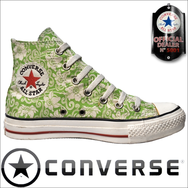 Blumenmotiv Converse All Star Schuhe Chucks 1U562 HI