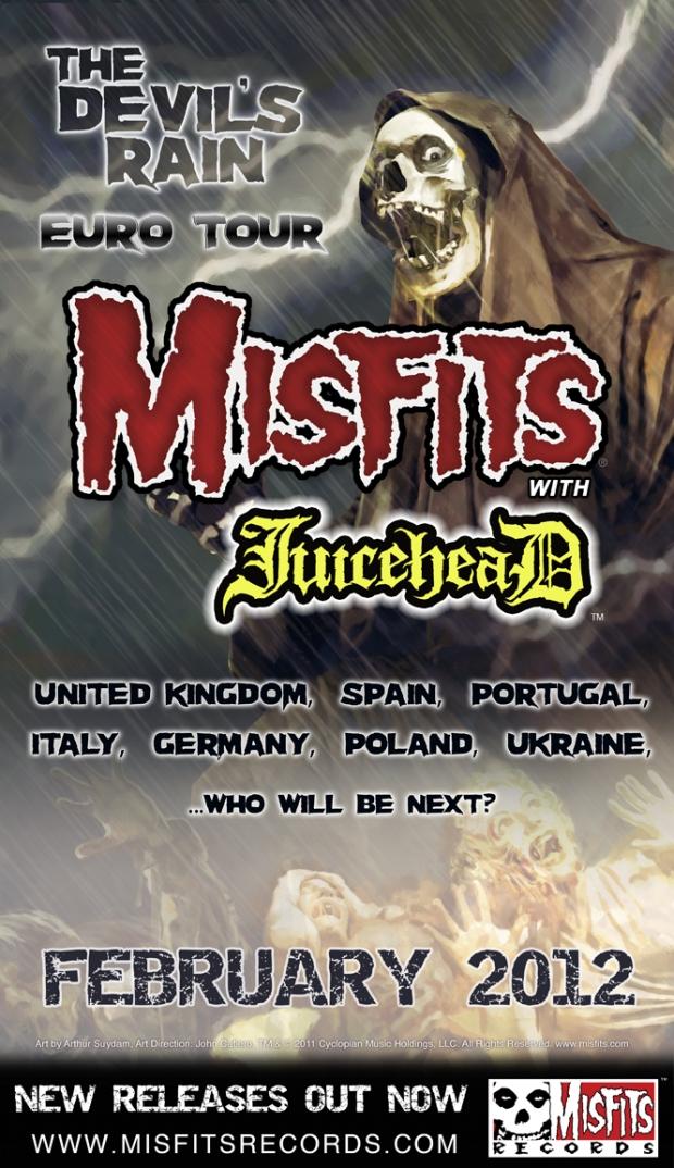 MISFITS & JUICEHEAD INVADE EUROPE Tour 2012
