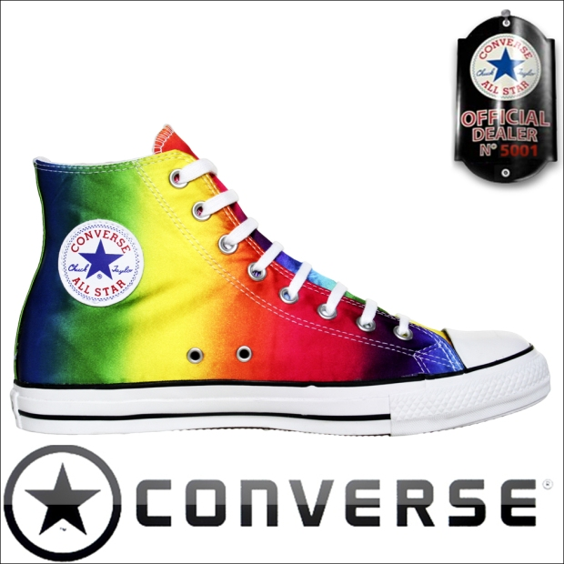 Converse Schuhe Chuck Taylor All Star Chucks 105447 Multi Color Rainbow HI Gay