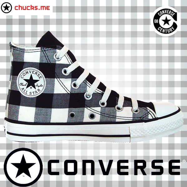 converse chuck taylor all star chucks 102951 plaid schwarz wei black white kariert c c c b. Black Bedroom Furniture Sets. Home Design Ideas