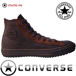 Converse Schuhe Chuck Taylor All Star Chucks 105821 Braun Leder Leather HI Winter Boots