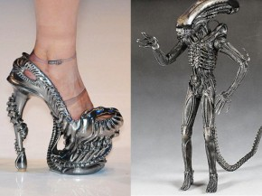 Alien high heels