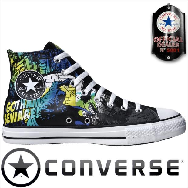 Converse DC COMIC #Batman limited Edition Gotham City beware The Dark knight - bei Chucks.me kannst Du Batman Converse Chucks preiswert online im Webshop kaufen!
