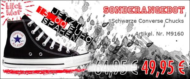 Converse Chuck Taylor Schuhe All Star Chucks M9160 Black Schwarz HI Sonderangebot 49,95€