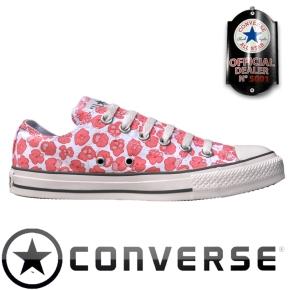 Blumenmotiv Converse All Star Schuhe Chucks OX