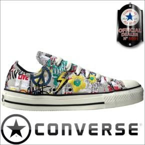 Converse Schuhe All Star Chucks OX Poster Grafitty