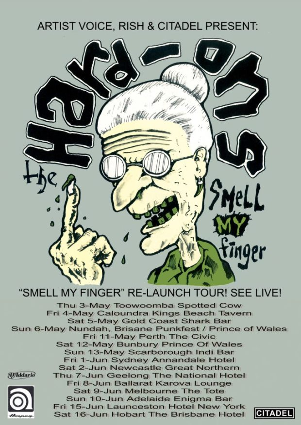 "Hard-Ons ""Smell my finger"" relauch Tour"