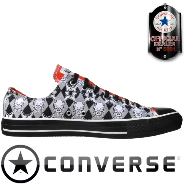 Converse All Star Schuhe Chucks 1S464 Low Totenkopf Skull Print