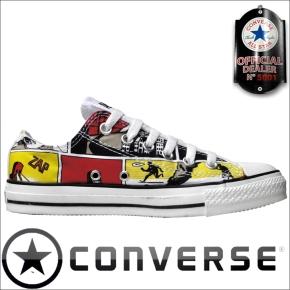 Converse Schuhe All Star Chucks 111122 OX Comicprint limited Edition Belgien