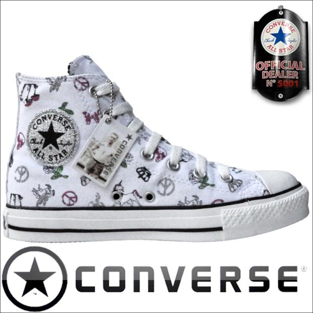 Converse All Star Chuck Taylor 504341 Chucks Schwarz Silber Black Glitzer