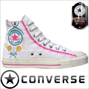 Converse Chucks All Star Schuhe Flower Stickerei 5Y736 Weiß
