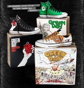 Converse Chucks Green Day Limited Edition Ultra rare - Music Collaboration