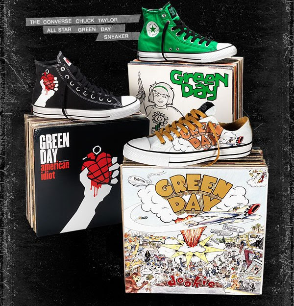 Converse Chucks Green Day Limited Edition Ultra rare - Music Collaboration