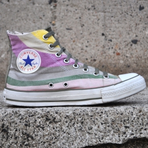 Converse All Star Hi Tops1K431,Vintage Sneakers with white spripes