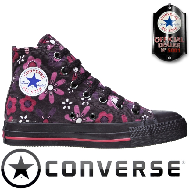 Converse-Chucks-1W360 Autum Flowers