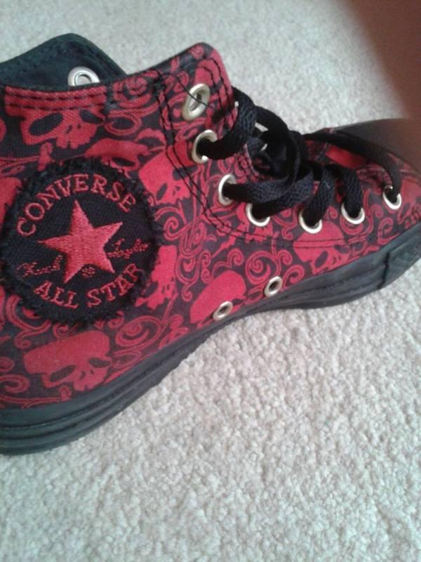 Converse All Star Chucks rote Skull Chucks - Vintage very limited Edition!