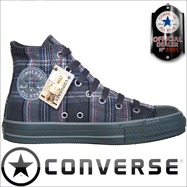 Converse Schuhe All Star Chucks Converse Chucks 100106 Plaid Pink Grau Kariert