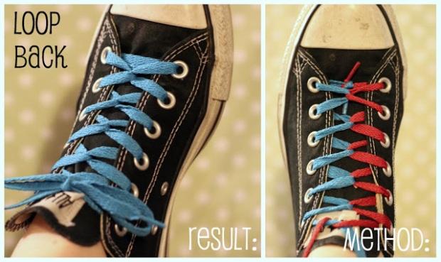 Tutorial: creative shoe lacings