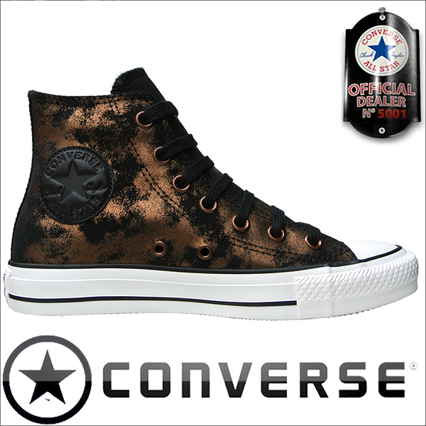 Converse Chucks All Star Chuck Taylor Sneakers 540369 BLACK GOLD LEATHER