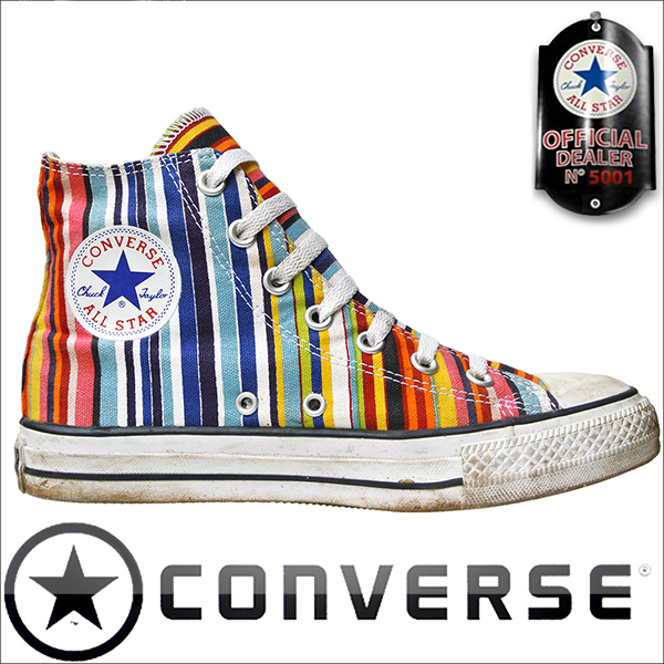 Converse Rainbow Print Vintage
