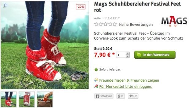 Mags Schuhüberzieher Festival Feet rot