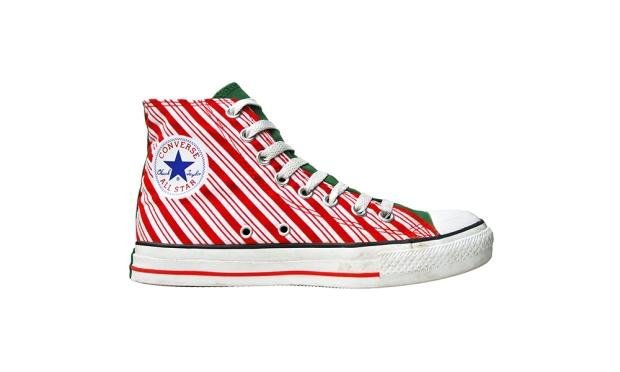 Converse Schuhe All Star Chucks 1T504 Rot Grün Gestreift