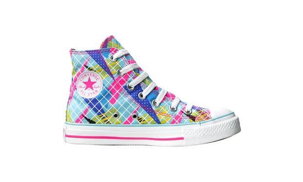 Converse Chuck Taylor All Star Neon Pink 107124 Kariert