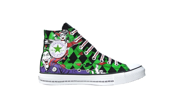 THE JOKER BATMAN PRINT CANVAS CONVERSE USA SNEAKER SHOES 134536