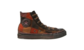 Converse Schuhe Chuck Taylor All Star Chucks 7D - Sample Braun Leder Edition Patchwork HI - Vintage