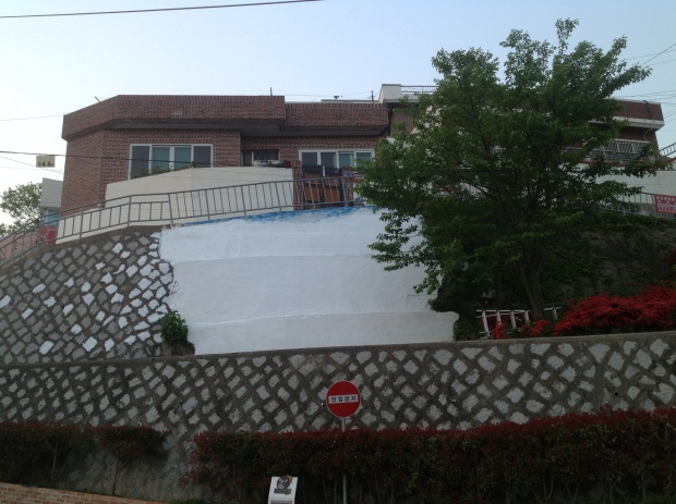 before: SP38 - After the ( big ) rain , Now it 's hot ! Dongpirang , S.Korea Mural biennale 2014 © SP38