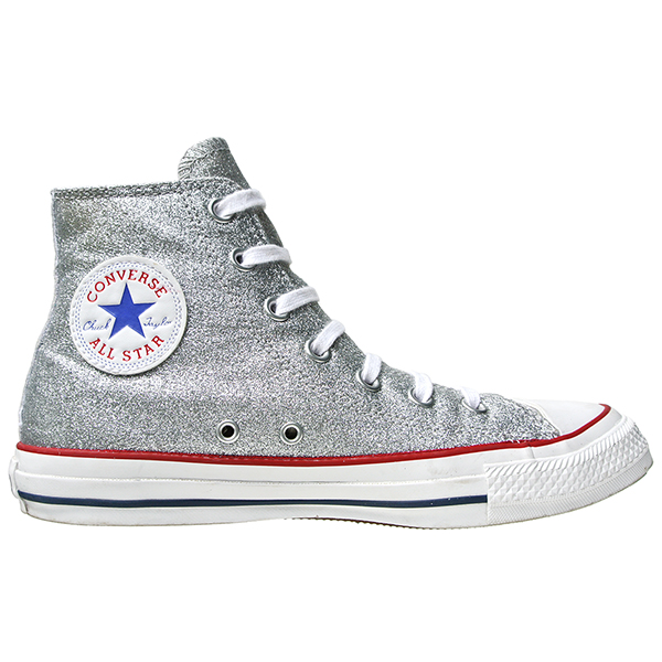 converse schuhe all star chucks silberne glitzer converse chucks 109740 silber c c c b. Black Bedroom Furniture Sets. Home Design Ideas