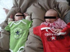 Converse Baby Body für Twins