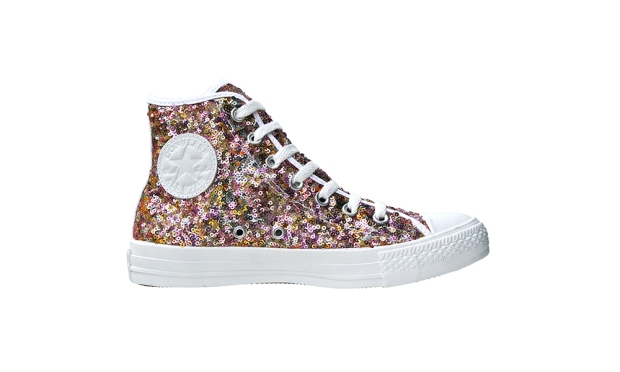 CONVERSE CHUCKS SCHUHE CHUCKS GOLD 135889 PAILLETTEN SEQUINS SILBER