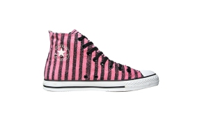 Converse Chuck Taylor All Star #Chucks Pink Schwarz 101982 Gestreift HI - Sweat