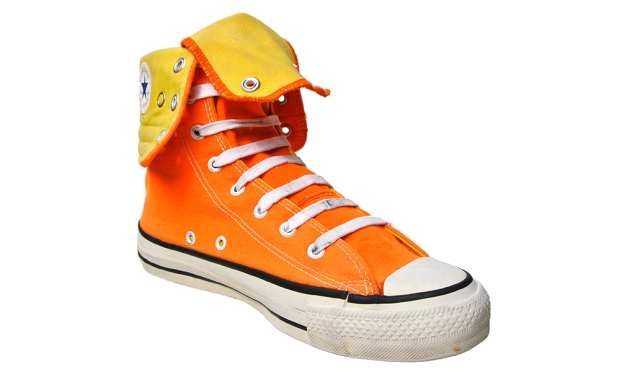 Converse Schuhe All Star Chucks XHI Orange Gelb Vintage Made in USA 90s
